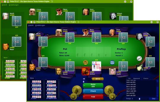PokerTH - brezplačni Texas Hold em poker, ki ga lahko igraš tudi preko interneta Pokerth2