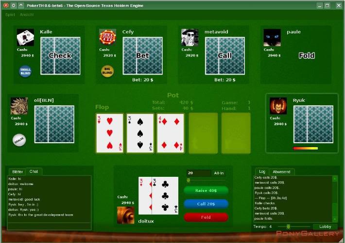 PokerTH - brezplačni Texas Hold em poker, ki ga lahko igraš tudi preko interneta Pokerth5