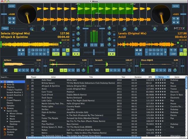 Brezplačni avdio in video programi (za predvajanje in obdelavo zvoka in videa) Splash_mixxx_screenshot_lat