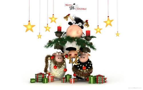 Praznična Božično-novoletna ozadja za na vaš računalnik (wallpapers) 2010_6a