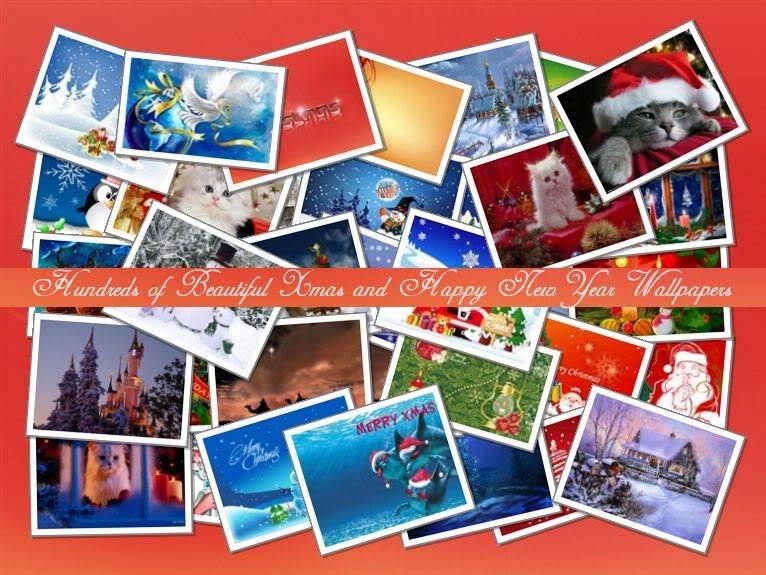 Praznična Božično-novoletna ozadja za na vaš računalnik (wallpapers) Kolaz650
