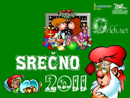Praznična Božično-novoletna ozadja za na vaš računalnik (wallpapers) Srecno2011a