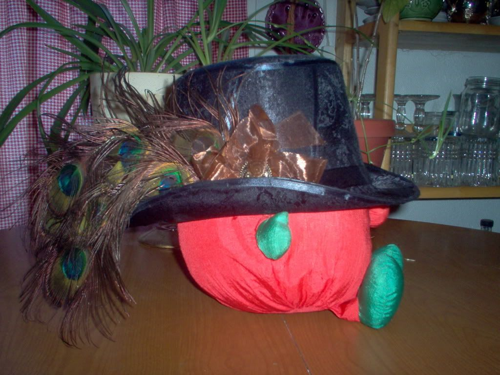 Customized Top Hat Peacockfeathers