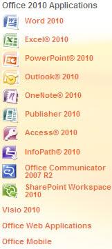 اوفيس 2010 Microsoft Office Professional Edition 2010 Officecontent