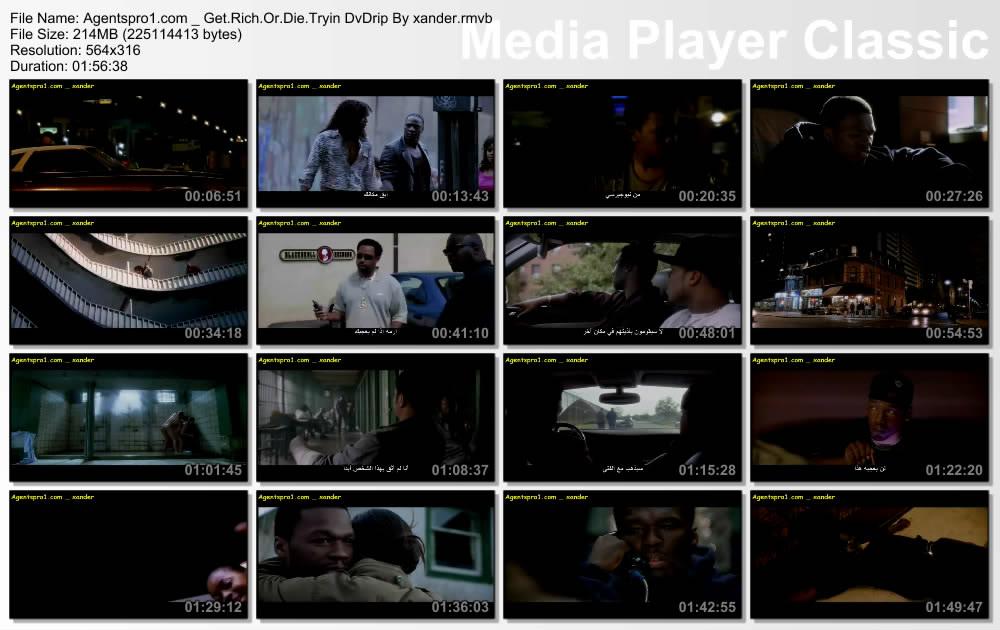 فيلم الموسيقى والعصابات للرابر المشهور  فيفتى سينت Get Rich Or Die Tryin 2005 . للكبار فقط ! مترجم بحجم 207  Mb Xander3443