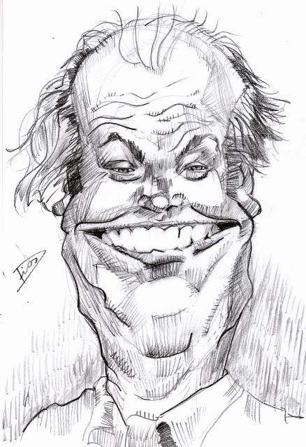 A caricatura de hoje é.... JackNilcholson