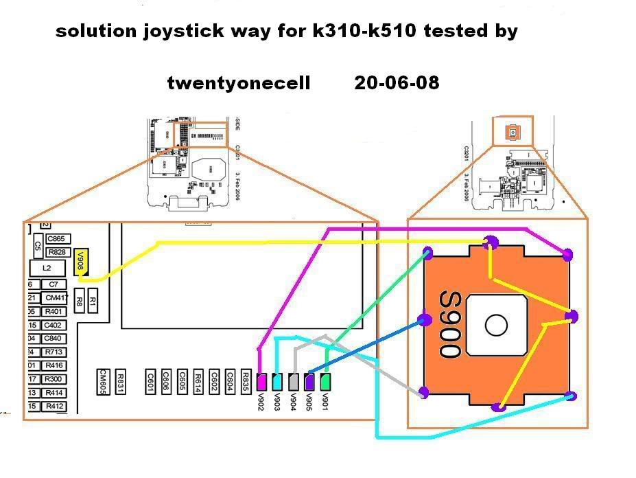 SONY ERICSSON K310/K510 JOYSTICK WAYS 2dkh076