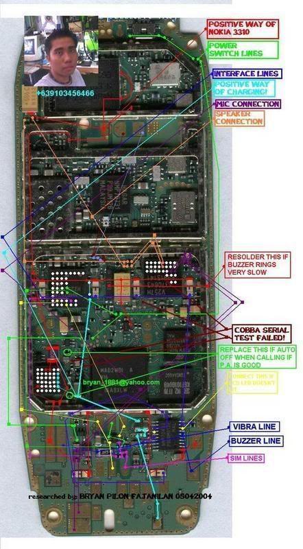 SOME 3310/3315/3350/3410 SOLUTIONS 3310switchMICspkrCHARGINGpositiv-1