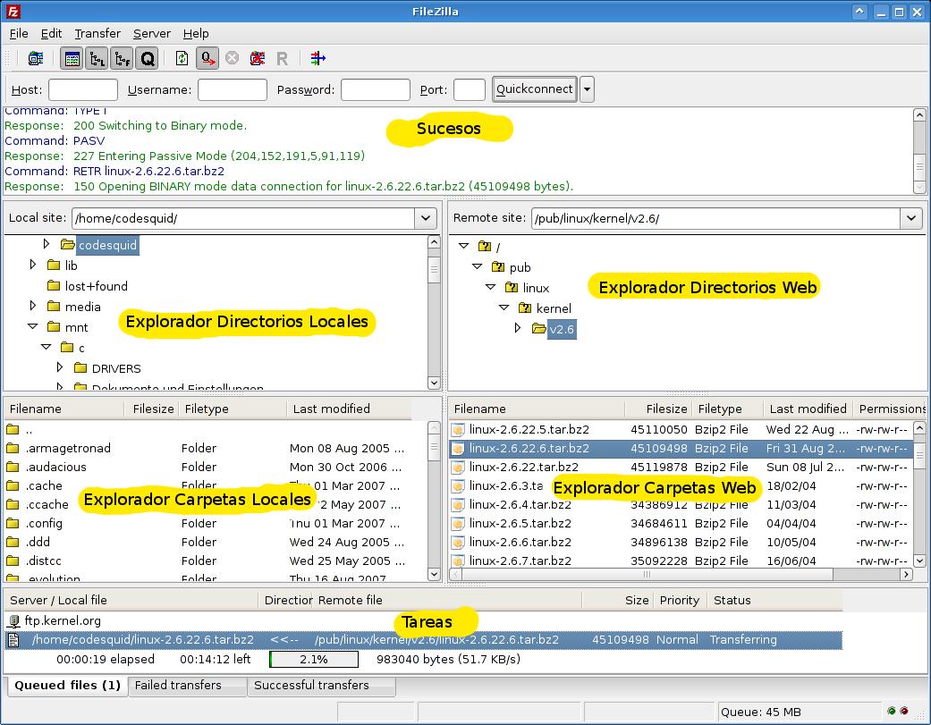 FileZilla, control de FTP! Filezilla1