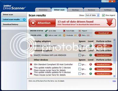 Uniblue Driver Scanner 2009 Driverscanner1