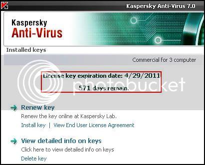 Kaspersky Anti-Virus 7.0.1.325 Key Valid Till 2011!! Kuskus