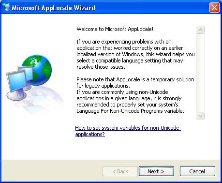 Program (exe) Language Applocale1