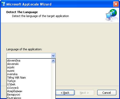 Program (exe) Language Applocale3