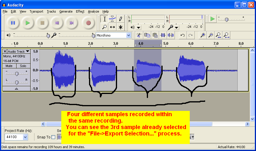 """""""Recording a voicebank with Audacity"""" For Dummies Audacity_step9"""