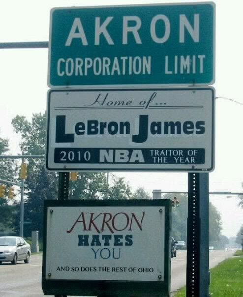Damn just stop it already... Akronhatesyouqueenlebronjames