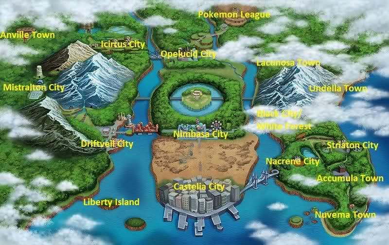 Unova Region Reference Map Unova
