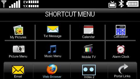 Voyager Portal Shortcutmenu