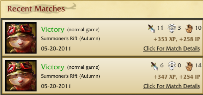 1st two games playing Teemo Teemo