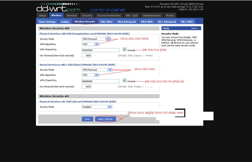 Hướng dẫn chung thiết lập cấu hình router BUFFALO up bản DD-WRT thu phát sóng Wifi Cachlamrepeater