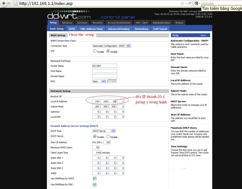 Hướng dẫn chung thiết lập cấu hình router BUFFALO up bản DD-WRT thu phát sóng Wifi LamrepeaterAG