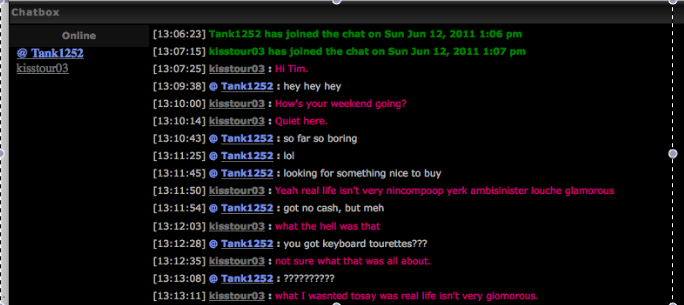 There are 101 good reasons to join the live chat - - Page 5 Tourettes