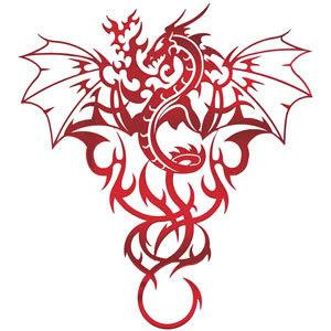 Ashley's Bio Dragon-Tribal-Tattoo
