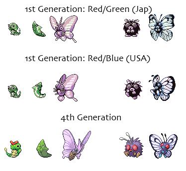 Mitos Pokemon VenonatButterfreesprites
