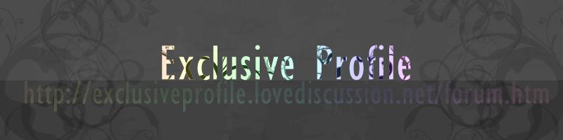 Exclusive Profile[Facebook]