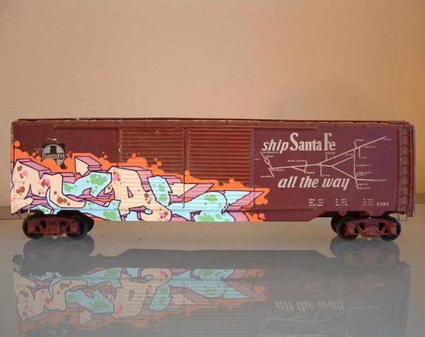 Trenes a escala con GRAFFITIS! Boxcar_1