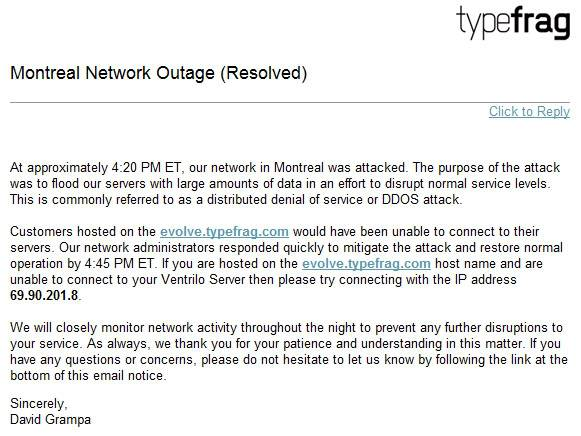 Montreal Network Outage Resolved Montnetworkoutage