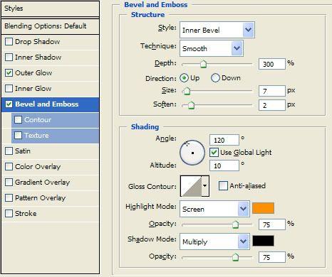 Efeito de texto para iniciantes (By: Stork) Blending_Options
