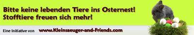 Initiative 2012: Nicht unüberlegt Tiere zu Ostern verschenken! Osterbanner