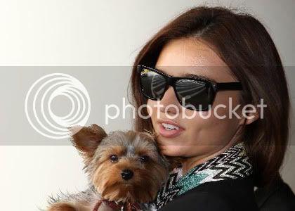 My life ;x ! in photos ..  Miranda-kerr-pup-airport