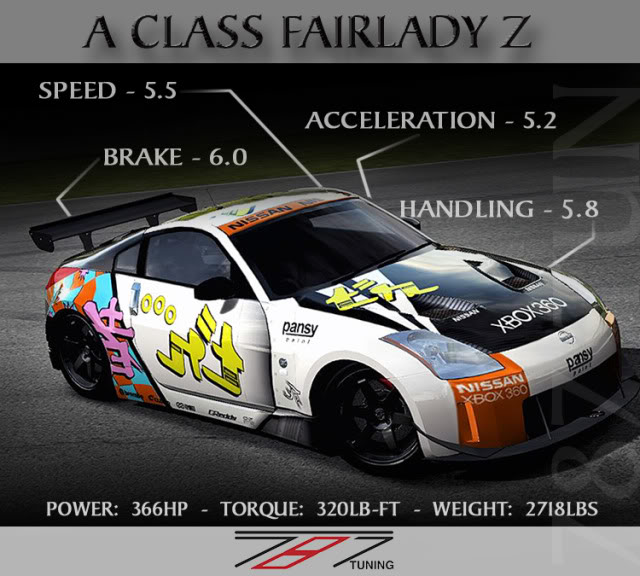 [A-850] 03 Nissan Fairlady Z (Pansy Paint) Forza350zbannor-1