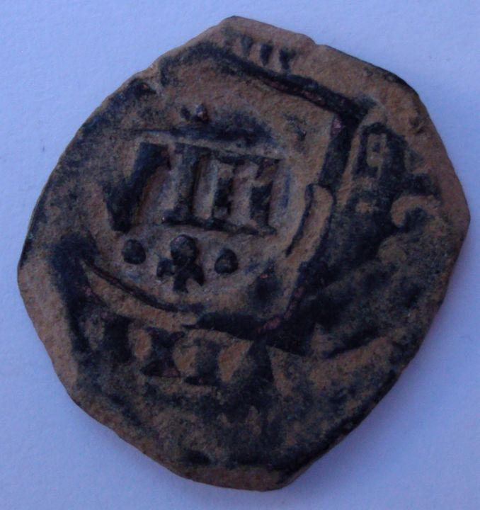 VIII maravedís de 1624 acuñada en Valladolid resellado a VIII de 1641, Toledo. 1_zpsd85d171b