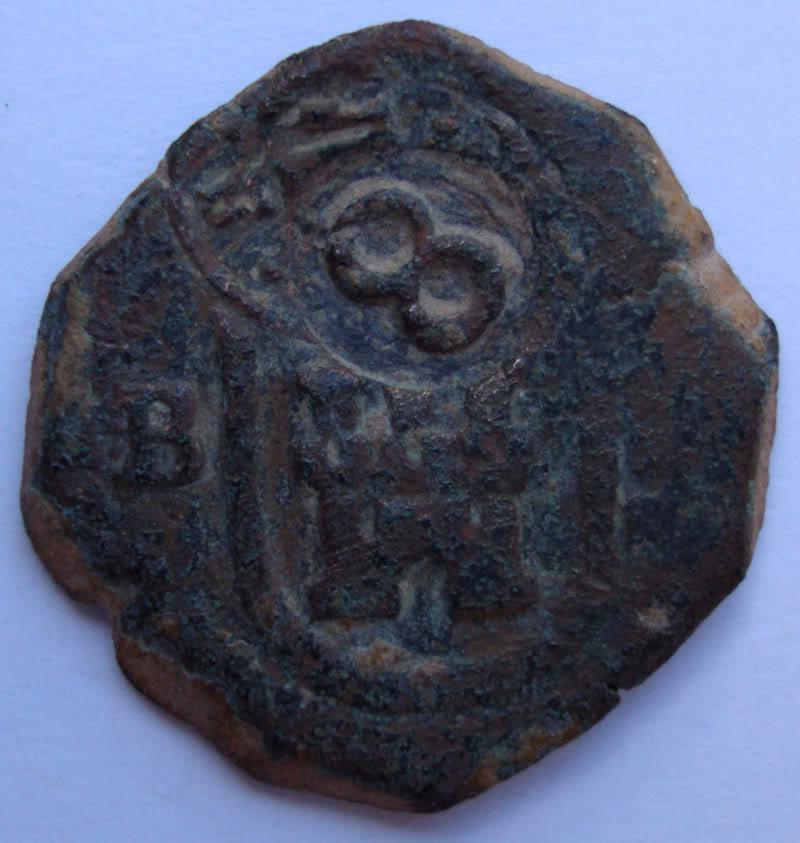 8 Maravedíes de Felipe IV (Burgos, 1625) con resellos VIII/1641-2 y 8/1652 8Maravedis1622BurgosFelipeIVa