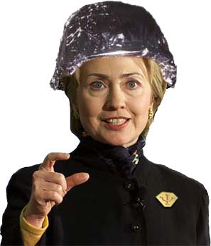 What is the 'best' headwear? Hillary_tinfoil_hat
