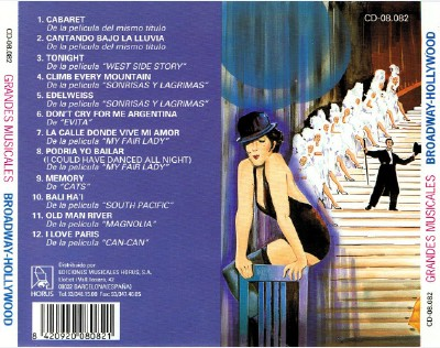 Grandes Musicales - Broadway-Hollywood (1993) 964219ab8354e5b4d8be2264f8cefcc5