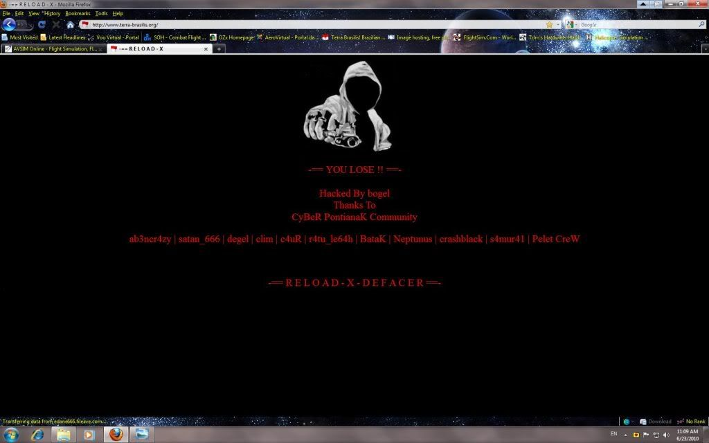 Site Terra Brasilis hackeado 8bcc9a03