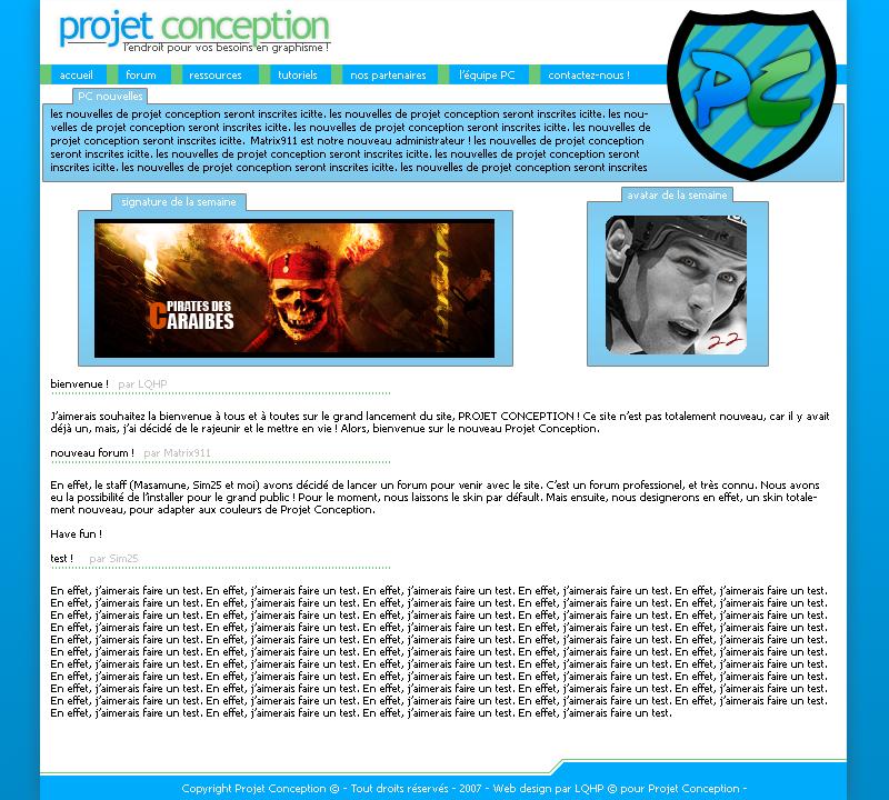Projet Conception ouvre ses portes ! Projetconceptionwebdesign