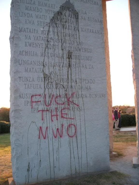 Georgia Guidestones have been vandalized G1