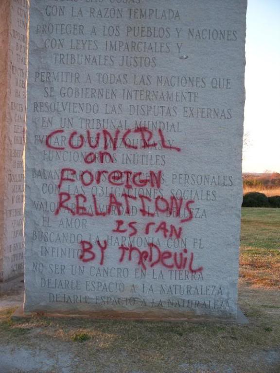 Georgia Guidestones have been vandalized G6