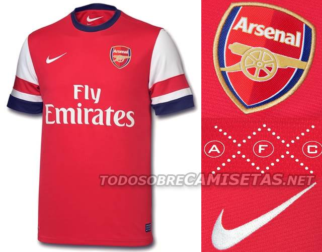 Maillots [2012-2013] - Page 6 Arsenal12home