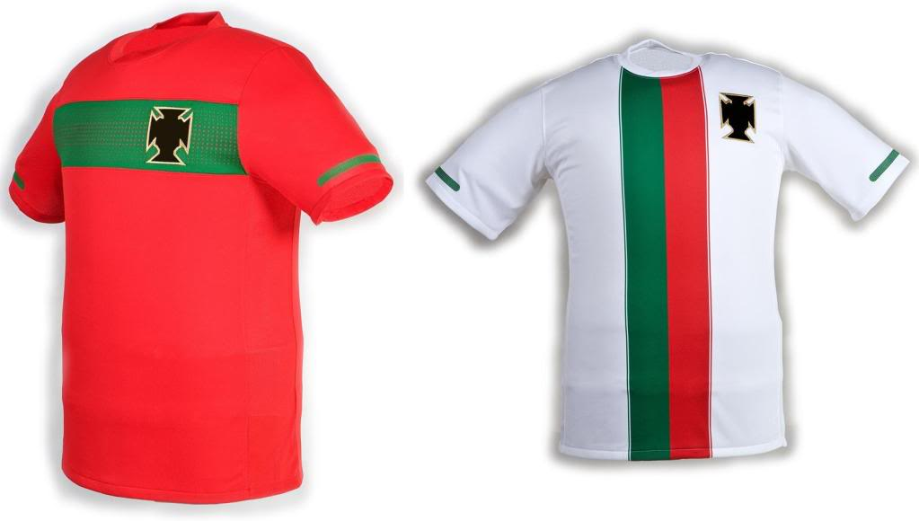 Maillots internationaux (World Cup 2010) Portugaldesigns
