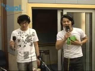 080613 Cool FM Kiss The Radio - Junjin & LeeJeeHoon (Great duet!) 07