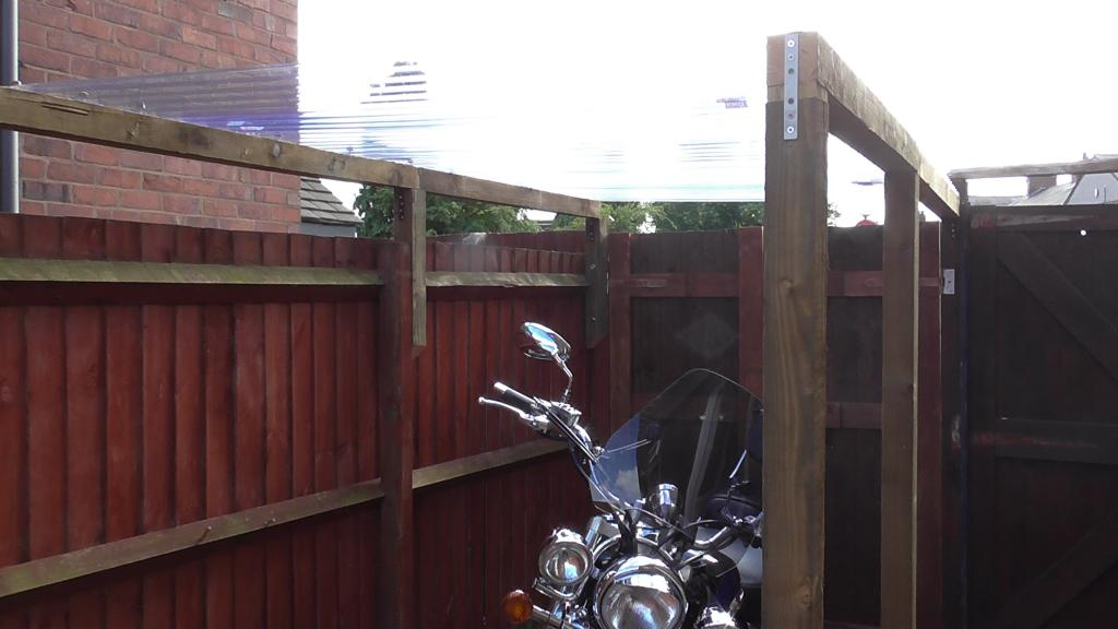 My VL8 Has been Treated today Bikeshelter001_zps1686892d