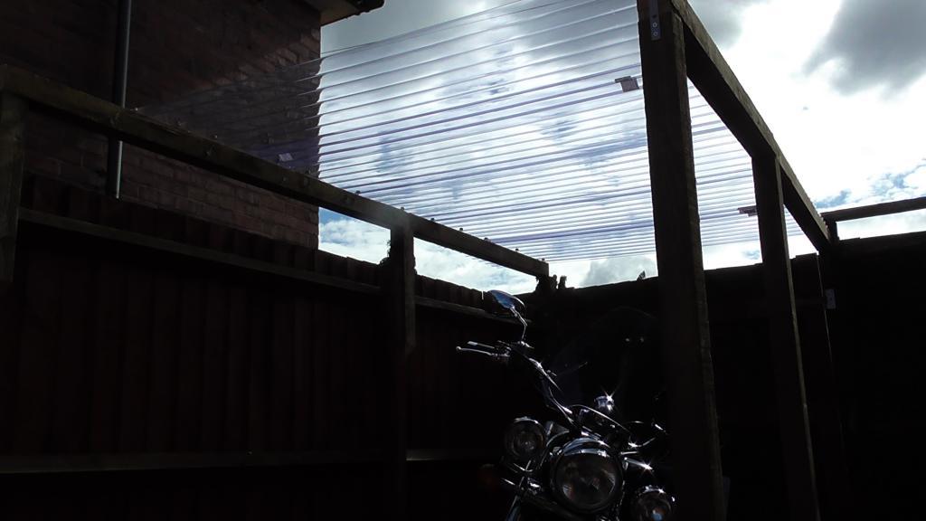 My VL8 Has been Treated today Bikeshelter002_zps775b1b35