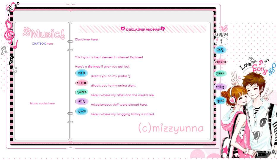 Mizzyunna's Blogskin Lovesongsblogskin