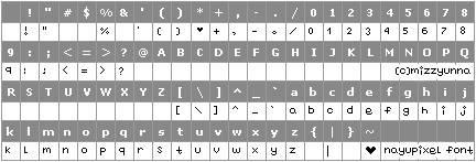 Nayupixel Font Nayupixelfont