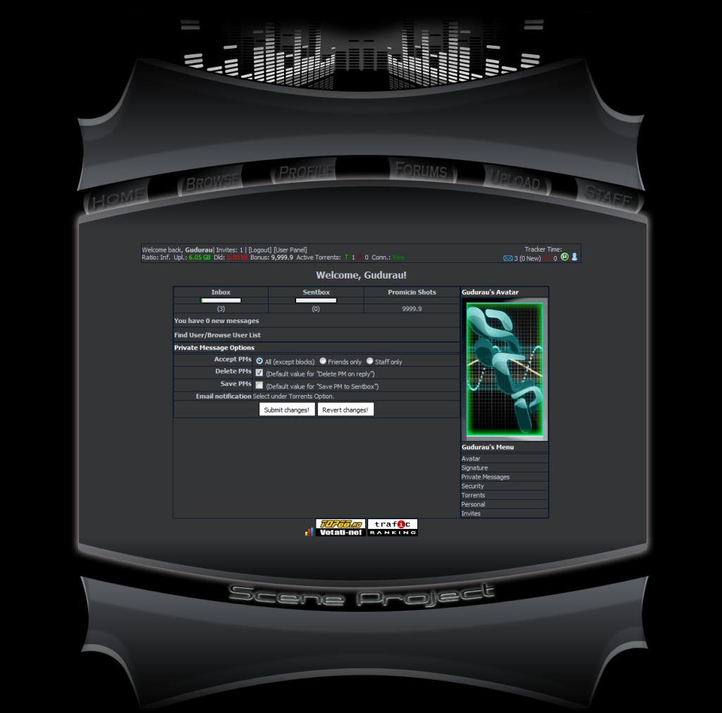 Scene-Project (private torrent tracker) Modern